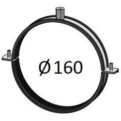 Obejma z uszczelką Średnice od DN 100-400 mm do rur Spiro Przewodów wentylacyjnych Średnica [mm]: 160