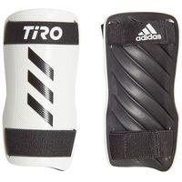Piłka nożna, Ochraniacze piłkarskie adidas Tiro SG Training biało-czarne GJ7758