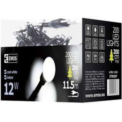 Lampki choinkowe Emos Xmas zyk LED na kabel biały zimny 200szt ZYK0207 --wysyłka 48h--