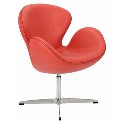 Miękki fotel wypoczynkowy czerwony - Loco 3X