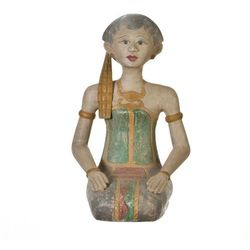 Dekoria Figura Muna postać klęczącej kobiety 17,5x27x50cm -30%, 17,5 × 27 × 10 cm