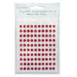 Kryształki samoprzylepne Dalprint GRKR-07/100szt. - rubinowe