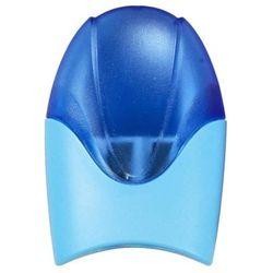 Temperówka KEYROAD Wave, plastikowa, podwójna, z pojemnikiem, pakowane na displayu, mix kolorów