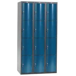 Szafa szatniowa Curve 3 sekcje 12 drzwi 1740x900x550 niebieski metalik