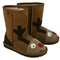 Kozaki dziecięce, EMU AUSTRALIA K11356 Reindeer chestnut, kozaki dziecięce, rozmiary 24-29,5