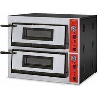 Piece i płyty grzejne gastronomiczne, Piec do pizzy 2-komorowy 14400W | 12x Ø 30cm | 230V