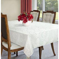 Obrus SUSAN 160x300+8*42x42 EUROFIRANY biały/srebrny
