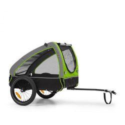 KLARFIT Husky, przyczepka rowerowa do przewozu psów, ok. 250 l, płótno Oxford 600D, zielony