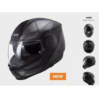 Kaski motocyklowe, KASK Szczękowy LS2 FF902 SCOPE AXIS BLACK TITANUM - nowość 2021 roku