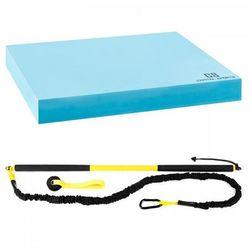 Capital Sports Riprider zestaw drążek z pętlą + mata do balansowania opór 9 kg EVA niebieski