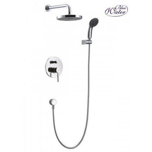 Blue Water Denver zestaw prysznicowy podtynkowy z deszczownicą i prysznicem chrom DEN-ZKP.150C, DEN-ZKP.150C