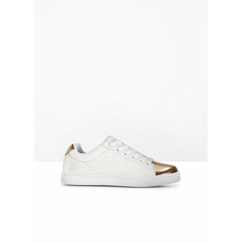 Damskie obuwie sportowe, Sneakersy bonprix biało-miedziany