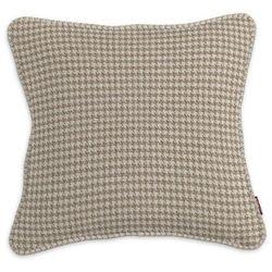 Dekoria Poszewka Gabi na poduszkę, beżowo- kremowa pepitka, 60 x 60 cm, Edinburgh