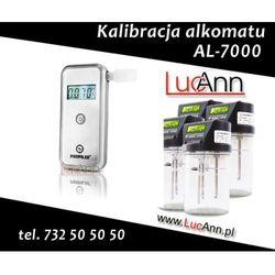 Kalibracja alkomatu AL-7000 + Świadectwo kalibracji