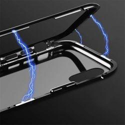 Wozinsky Magnetic Case magnetyczne etui 360 pokrowiec na całą obudowę przód + tył iPhone XS Max czarny