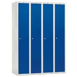 Szafa ubraniowa CLASSIC, 4 moduły, 1740x1200x550 mm, niebieski