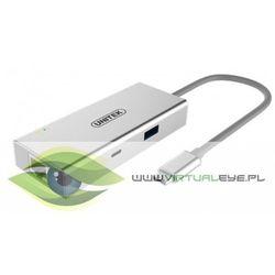 Unitek Adapter-HUB USB TYP-C HDMI 4K; USB3.0;USB TYP-C; GIGA; Y-9117