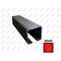 Przęsła i elementy ogrodzenia, Profil do bramy przesuwnej Fe, 80x80x5mm, L3m