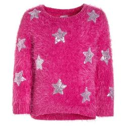 Outfit Kids STAR SEQUIN EYELASH JUMPER Sweter pink