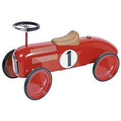 Jeździk czerwona metalowa wyścigówka