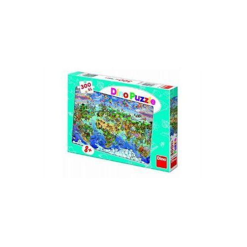 Puzzle, Puzzle Mapa světa ilustrovaná 300XL dílků 47x33cm v krabici 33x23x3,5
