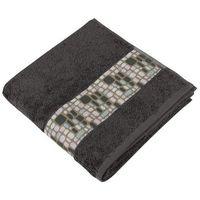 Ręczniki, Bellatex Ręcznik kąpielowy Kamienie ciemnobrązowy, 70 x 140,, 70 x 140 cm