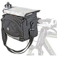 Sakwy, torby i plecaki rowerowe, Torba na kierownicę Author A-H735 QRA X7 czarna
