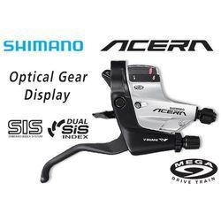 ASTM390RAS Klamkomanetka Shimano Acera ST-M390 V-Brake 9 rz. prawa srebrna