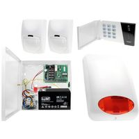 Czujki alarmowe, System alarmowy: Płyta główna CA-4 VP + Manipulator CA-4 VKLED + 2x Czujnik ruchu + Akcesoria