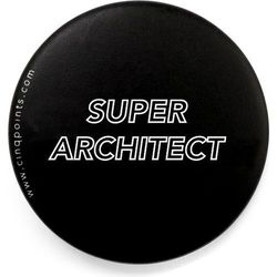 Przypinka czarna Badge Super Architect