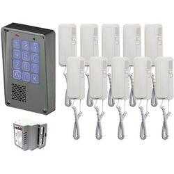 Zestaw 10-rodzinny Radbit Cyfrowy panel domofonowy wielorodzinny z szyfratorem KEC-4 NT MINI GD36
