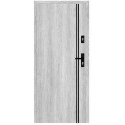 Drzwi wejściowe otwierane na zewnątrz HERMES Dąb Srebrny 80 Lewe NAWADOOR