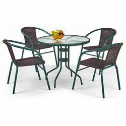 Szklany stół ogrodowy Tivoli - okrągły