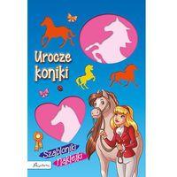 Książki dla dzieci, Urocze koniki Szabloniki naklejki - Papilon