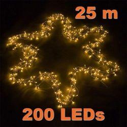 LAMPKI CHOINKOWE 200 DIOD LED OZDOBA ŚWIĄTECZNA - 200 LED / 25 METRÓW