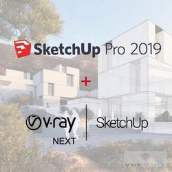 SketchUp Pro 2019 ENG + V-Ray + Skatter