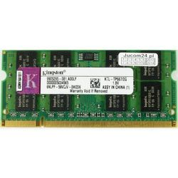 Pamięć RAM 1x 2GB KINGSTON SODIMM DDR2 667MHz PC2-5300 KTL-TP667/2G