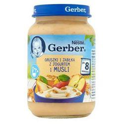 GERBER 190g Gruszki i jabłka z jogurtem i musli Deserek w słoiczku 8m+