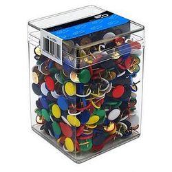 Pinezki kolorowe E&D plastikowe pudełko 3751, 750szt.
