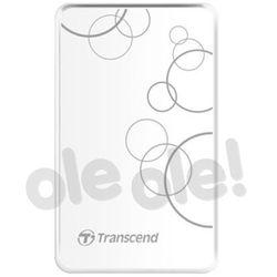 Transcend StoreJet 25 A3 1TB USB 3.0 (biały) - produkt w magazynie - szybka wysyłka!