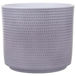 Osłonka doniczki Cermax Calla cylinder 12 cm szary lazur