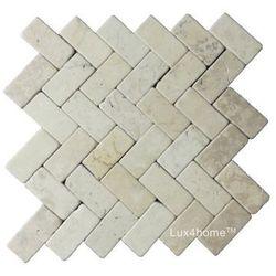 Lux4home parkiet kamienny biały marmur (Sesek Style White) 30x30 cm
