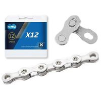 Łańcuchy, Łańcuch KMC X12 srebrny, 126 ogniw 12-rzedowy