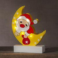 Ozdoby świąteczne, Oświetlenie dekoracyjne LED Freddy Mikołaj księżyc