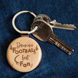 Football Best Fan - Brelok drewniany - Drewniany brelok