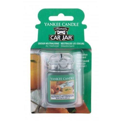 Odświeżacze powietrza do samochodu, Yankee Candle Alfresco Afternoon Car Jar zapach samochodowy 1 szt unisex