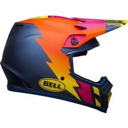 Bell kask off-road mx-9 mips strike matte bl/or/pi