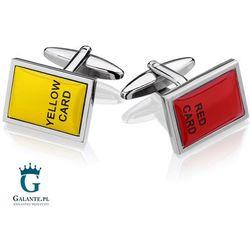 Spinki do mankietów Żółta i Czerwona kartka SD-4695