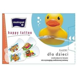 Matopat Happy Tatoo Plastry dla dzieci z 12 sztuk