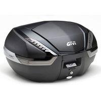 Kufry i bagażniki motocyklowe, Kufer Givi V47NNT (czarny, 47 litrów, szare odblaski, pokrywa karbonowa)